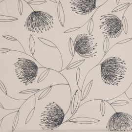Pincushion Whirl – Grey on Cream