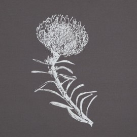 Pincushion – White on Grey