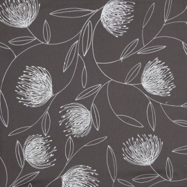 Pincushion Whirl – White on Grey