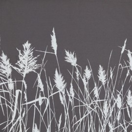 Grasses – White on Grey