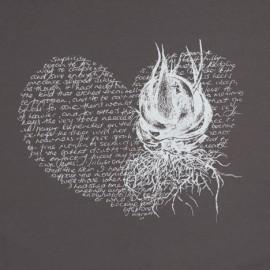 Heart Aloe – White on Grey